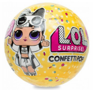 LA-8814/551546E5C Кукла LOL Surprise Confetti Pop в шаре 7 слоев 3 серия 2 волна